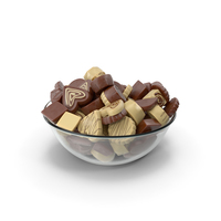 Bowl with Truffle Chocolate Candy PNG & PSD Images