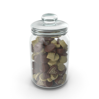 Jar with Truffle Chocolate Candy PNG & PSD Images