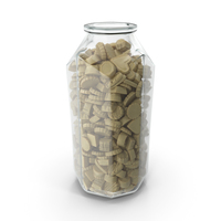 Octagon Jar with White Truffle Chocolate Candy PNG & PSD Images