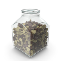 Square Jar with Truffle Chocolate Candy PNG & PSD Images