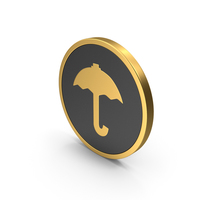 Gold Icon Umbrella PNG & PSD Images