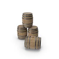 Wooden Barrels Beech Veined PNG & PSD Images