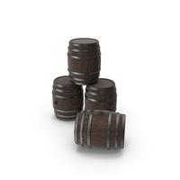 Wooden Barrels Walnut Dark PNG & PSD Images