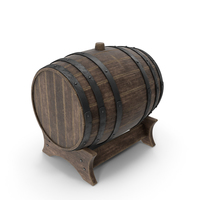 Wooden Barrel Stand Old PNG & PSD Images