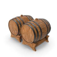 Wooden Barrels Duo Ship Hull PNG & PSD Images