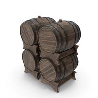 Wooden Barrels Set Old PNG & PSD Images