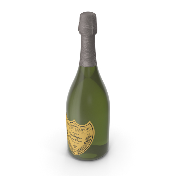Champagne Dom Perignon PNG & PSD Images