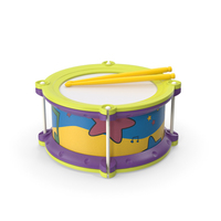 Toy Drum with Drumsticks PNG & PSD Images