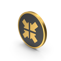 Gold Icon Arrow Button PNG & PSD Images