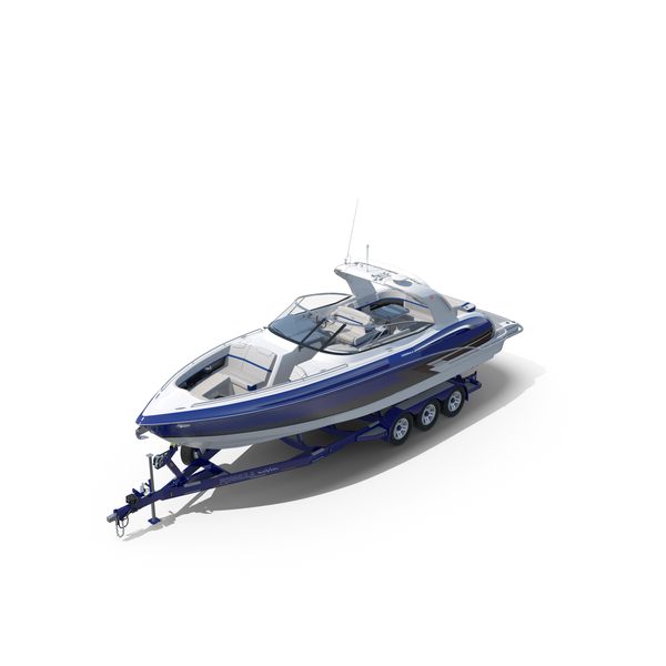 Formula 350 FX CBR Luxury Sport Boat and Trailer Phoenix PNG & PSD Images