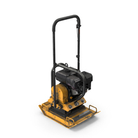 Gasoline Vibratory Plate Compactor Dirty PNG & PSD Images