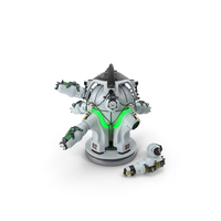 Sci Fi Nuclear Reactor with Energy Cells PNG & PSD Images