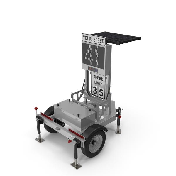 Mobile Speed Radar Trailer PNG & PSD Images