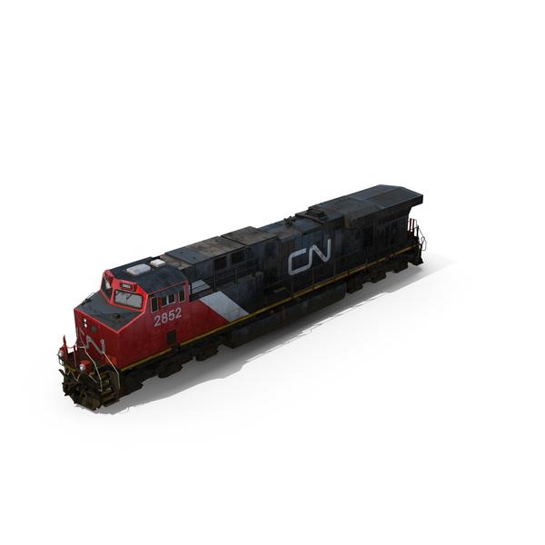 GE ES44AC Locomotive Canadian Pacific PNG & PSD Images