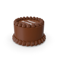 Chocolate Birthday Cake PNG & PSD Images