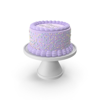 Purple Birthday Cake PNG & PSD Images