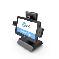 Hewlett Packard HP RP2 Retail System PNG & PSD Images