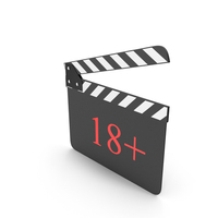 Clapperboard 18+ PNG & PSD Images