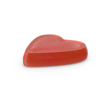 Gummy Heart Candy Red PNG & PSD Images