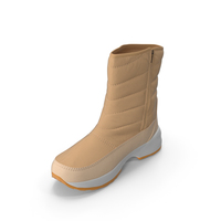 Mens Winter Boots Beige PNG & PSD Images