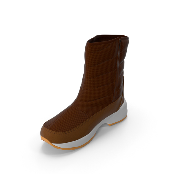 Mens Winter Boots Brown PNG & PSD Images