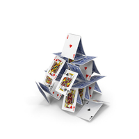 Falling House of Cards PNG & PSD Images