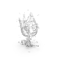 Shattered Wine Glass PNG & PSD Images