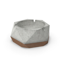Ashley Ashtray (Concrete & Wood) PNG & PSD Images