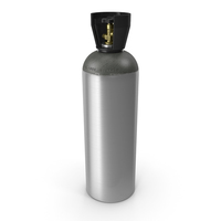 CO2 Cylinder with Needle Valve PNG & PSD Images