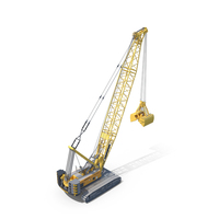 Liebherr Mechanical Cable Clamshell Excavator PNG & PSD Images