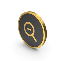 Gold Icon Zoom Out PNG & PSD Images