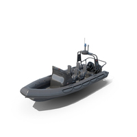 Military Inflatable Boat Zodiac and Engine Mercury Verado 200 RHIB PNG & PSD Images