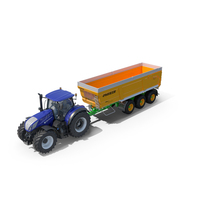 New Holland T7 with Joskin Trans-Space 8000 PNG & PSD Images