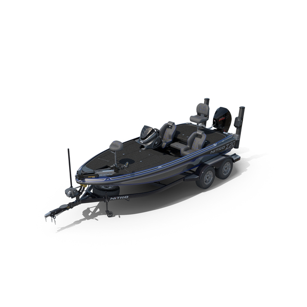 NITRO Z20 Pro 2019 Bass Boat and Trailer PNG & PSD Images