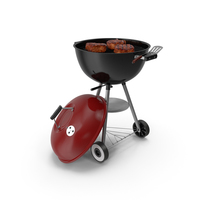 Kettle Grill with Meat PNG & PSD Images
