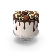 Chocolate Cake with Candy Decor PNG & PSD Images