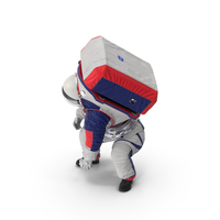 Spacesuit NASA Astronaut xEMU Working Pose PNG & PSD Images