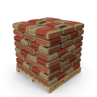 Pallet with Cement Bags PNG & PSD Images