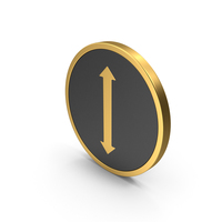 Gold Icon Arrow Up Down PNG & PSD Images
