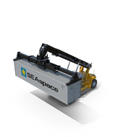 Reach Stacker Generic and 40 ft Container PNG & PSD Images