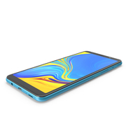 Samsung GALAXY A7 Blue 2018-2019 PNG & PSD Images