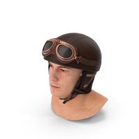 Marcus  with Retro Aviator Helmet PNG & PSD Images