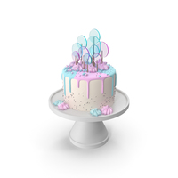 Pastel Cake eith the Decor of Round Lollipop PNG & PSD Images