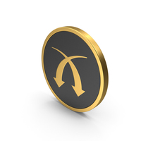 Gold Icon Arrows PNG & PSD Images