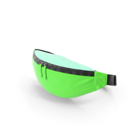 Polyester Waist Bag Green PNG & PSD Images
