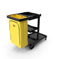 Rubbermaid Multi Shelf Cleaning Cart PNG & PSD Images