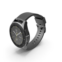 Samsung Galaxy Watch 42mm Midnight Black 2018 PNG & PSD Images