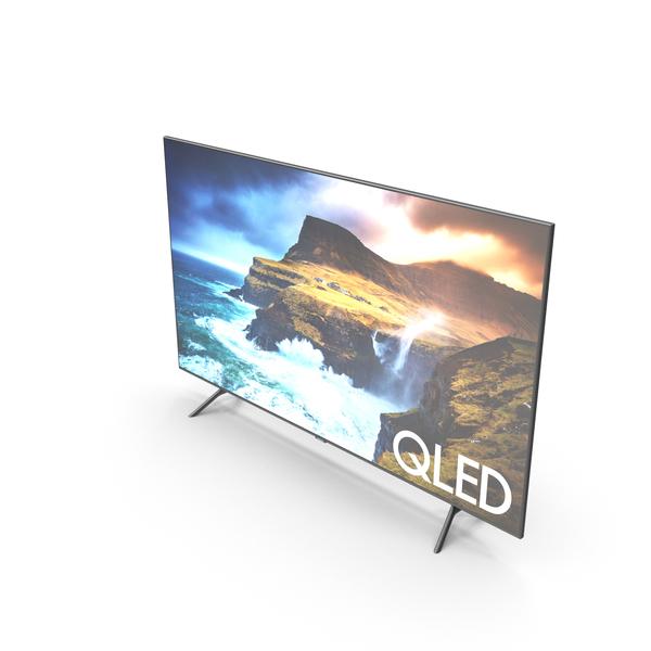 Samsung Q70R QLED Smart 4K UHD TV 75 inch 2019 PNG & PSD Images