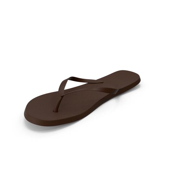 Men's Flip-Flop Brown PNG & PSD Images
