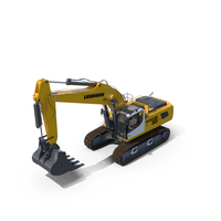 Tracked Excavator Liebherr R956 Litronic PNG & PSD Images